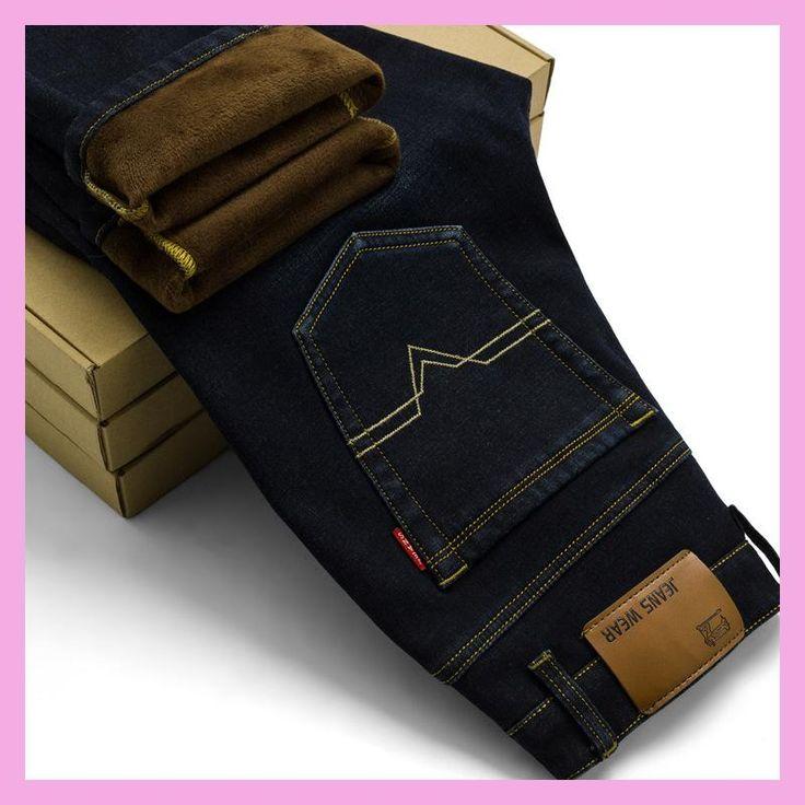 2017 New Men Activities Warm Jeans High Quality Famous Brand Autumn Winter Jeans warm flocking warm soft men jeans