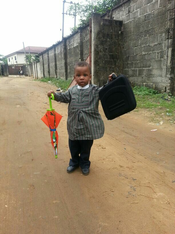"""Little Kingdom proclaimer. . Out in service.  Port Harcourt, Nigeria.""""Out of the mouth of babes and sucklings you will furnish praise."""""""