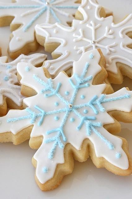 Snowflake Christmas Shortbread Cookies