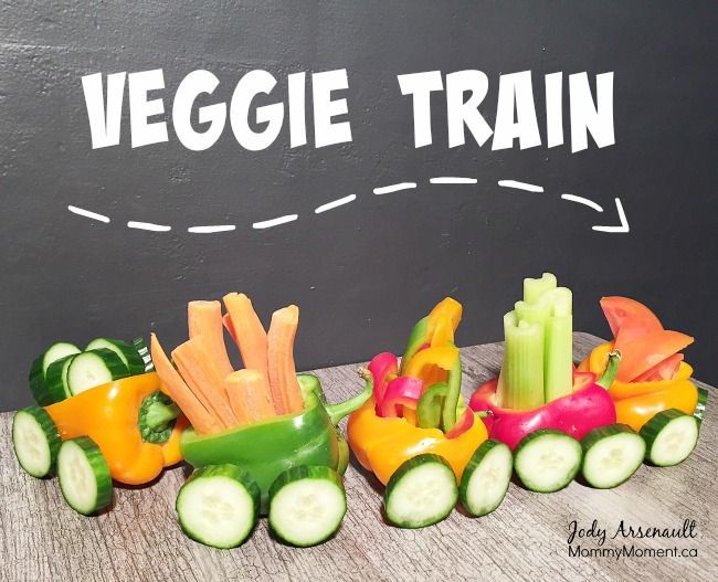 This Veggie Train Snack is fast and easy to make and so fun for the kids.  What else could you make?