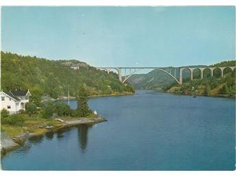 Svinesundbroen mellom Norge Sverige Halden ca 1970