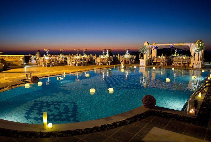 Wedding reception in Rocabella hotel in Santorini #santoriniwedding #rocabellahotel