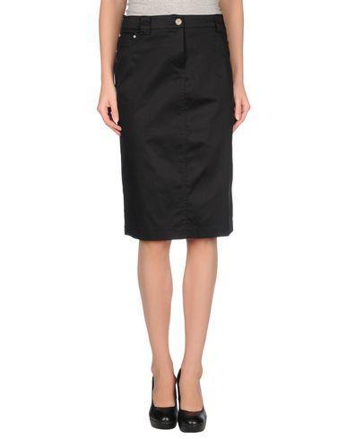 MARTINA ROVERSI Women's Knee length skirt Black 12 US
