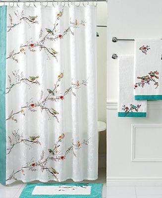 Lenox Simply Fine Bath Accessories, Chirp Shower Curtain - Shower Curtains & Accessories - Bed & Bath - Macy's