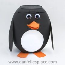 Penguin Craft from Tide Pods Bottle. making this! have so many empty pods containers i love penguins