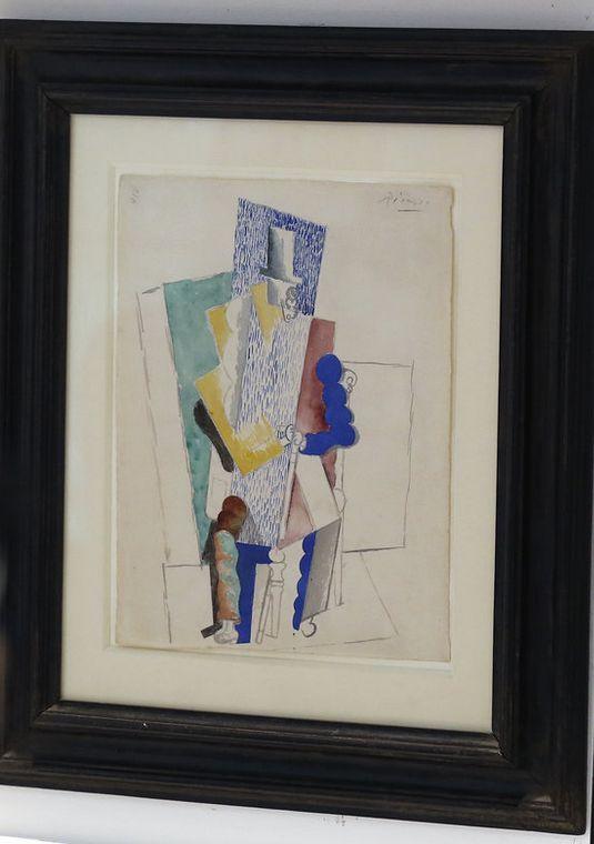 Panorama VII: Pablo Picasso Painting and Christmas Tree