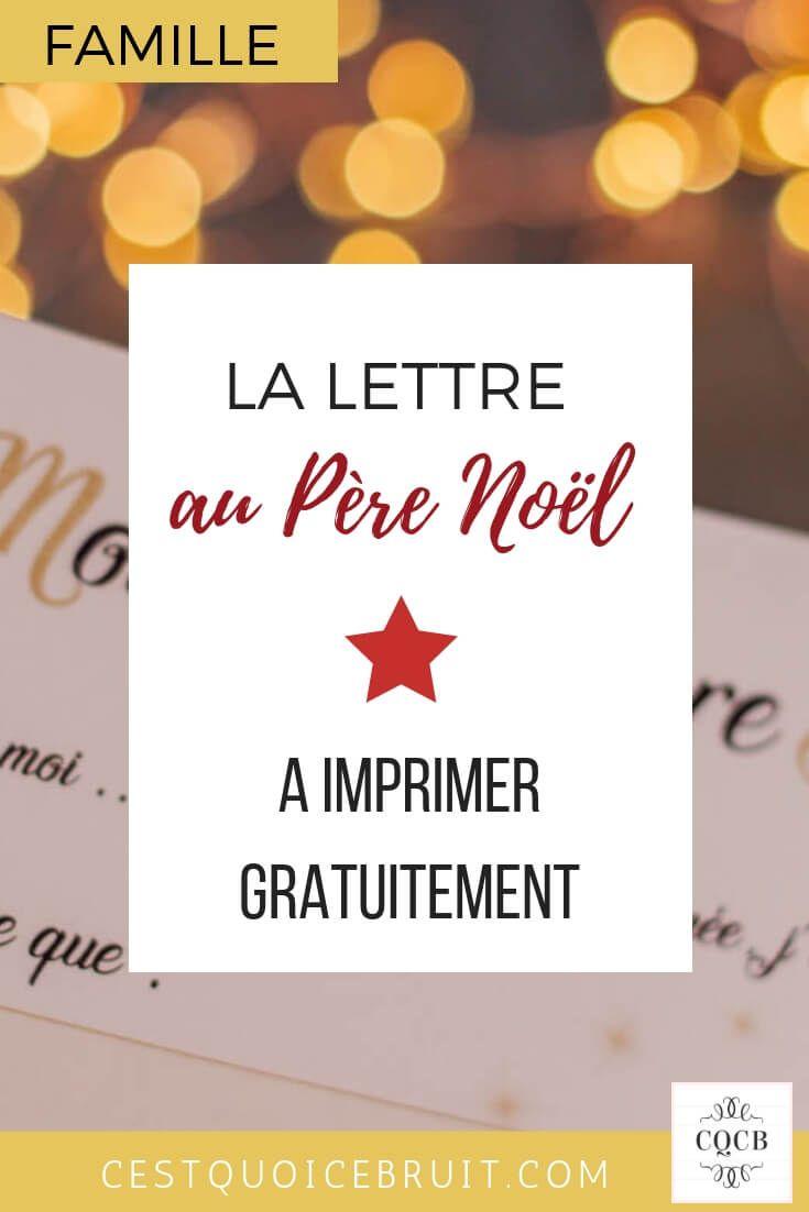La lettre au Père Noël à imprimer | Pere noel a imprimer, Lettre pere noel et Reponse du pere noel