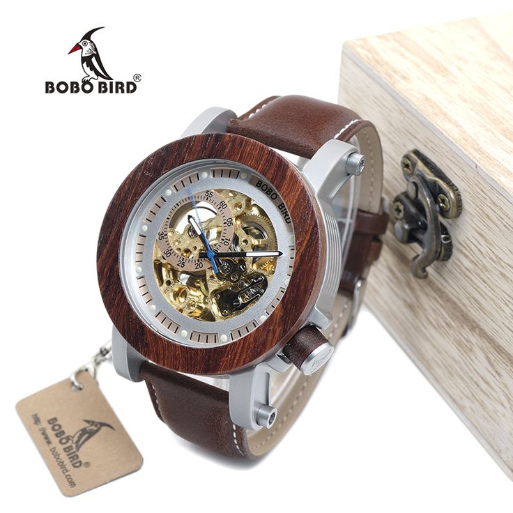 BOBO BIRD WK12 Red Sandalwood&Steel Exposed Mechanical Watch Vintage Bronze Skeleton Clock Male Antique Steampunk Automatic #Skeleton watches http://www.ku-ki-shop.com/shop/skeleton-watches/bobo-bird-wk12-red-sandalwood-steel-exposed-mechanical-watch-vintage-bronze-skeleton-clock-male-antique-steampunk-automatic/