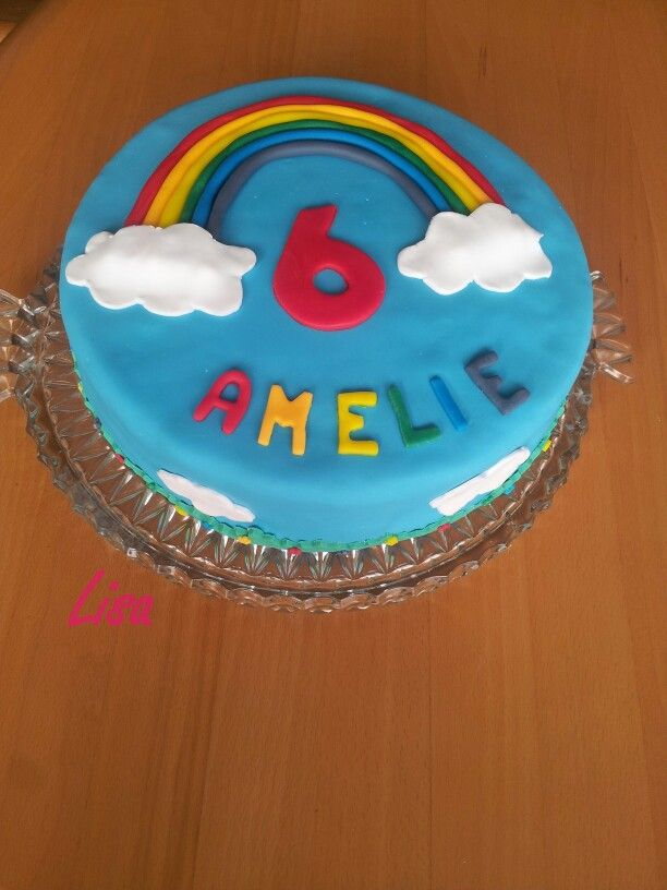 Amelies 6. Geburtstag - Motto: Regenbogen