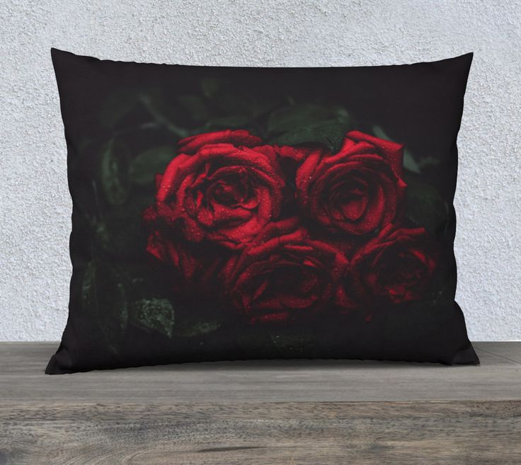 """26""""+x+20""""+pillow+""""Roses""""+by+Mixed+Imagery"""