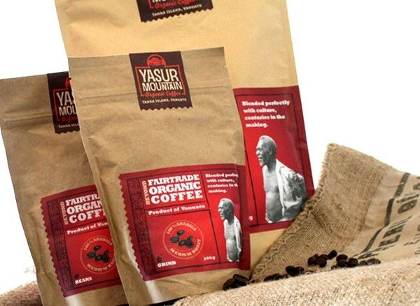 Yasur Mountain Organic Coffee on Packaging of the World - Creative Package Design Gallery