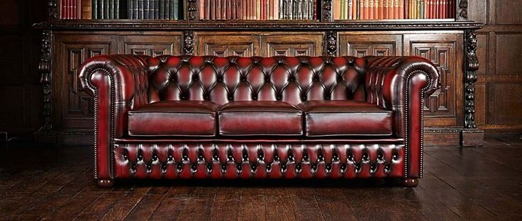 Bonnie Chesterfield Divano 3 Posti Made in England . Marrone antico L 190 H 69 P