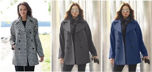 Plus Size Pea Coat For Men's Consideration Plus Size Pea Coats for ...