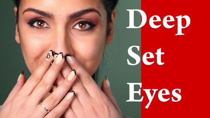 DEEP SET eyes makeup tutorial - How to apply eyeshadow for deep set eyes