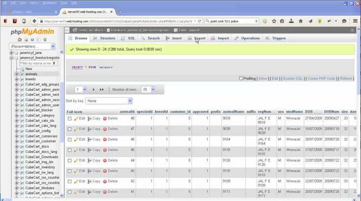 Creating a .csv file from your mysql database