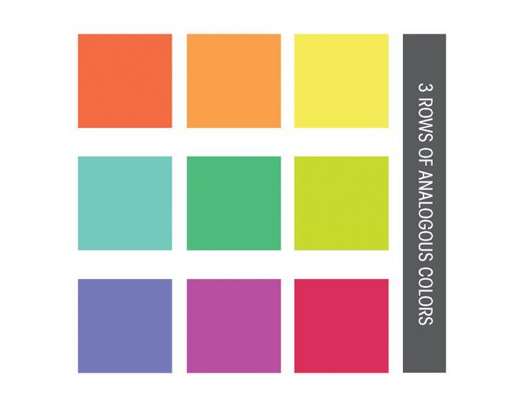 3 Sets Of Analogous Colors