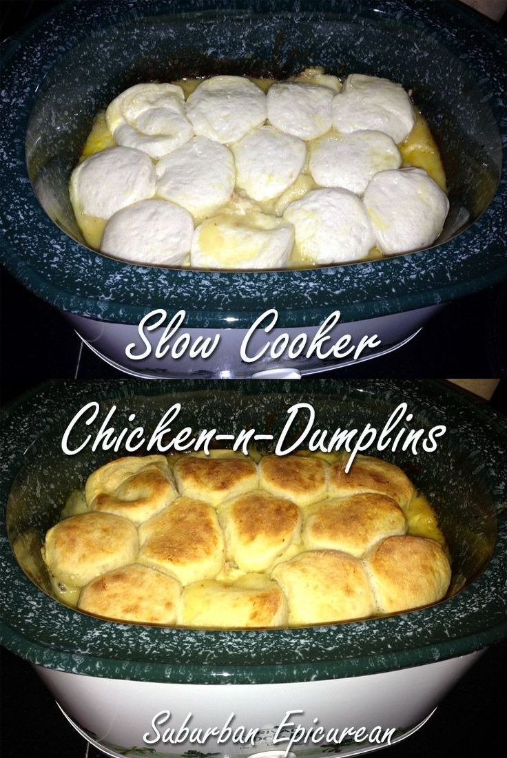 Suburban Epicurean: Slow Cooker Chicken-N-Dumplins I can make this- sounds easy and delicious!