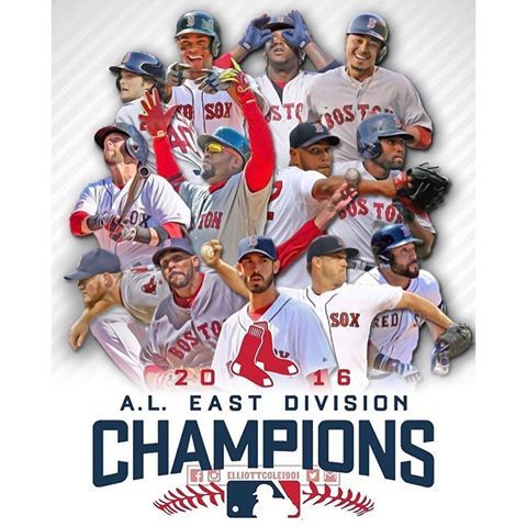 2016 A.L. East Division Champs - Boston Red Sox