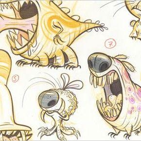 Artes da nova série Monster vs. Aliens, da Nick