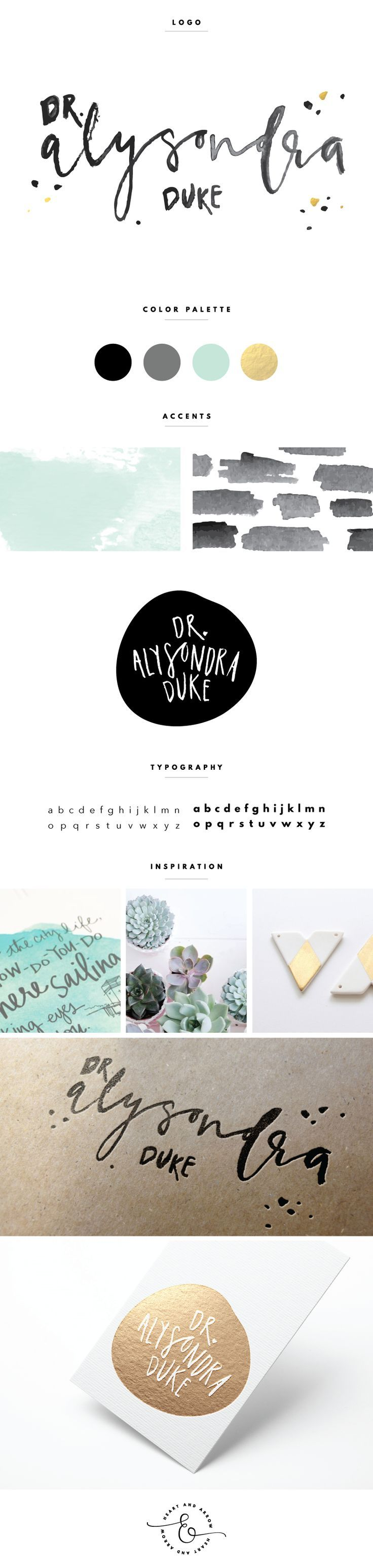 Hand lettered logo for Dr. Alysondra Duke