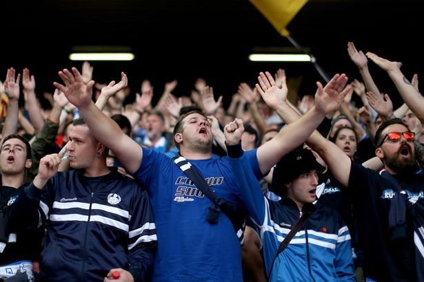"A Hoffenheim fan brings a toothbrush to Anfield to get rid of the taste of ""bad English beer"""