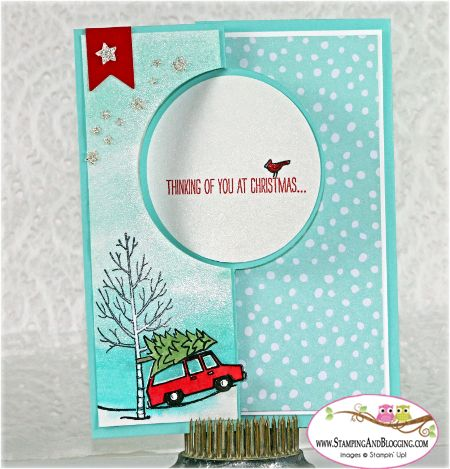 Stampin Up White Christmas card by Sandi @ www.stampingwithsandi.com