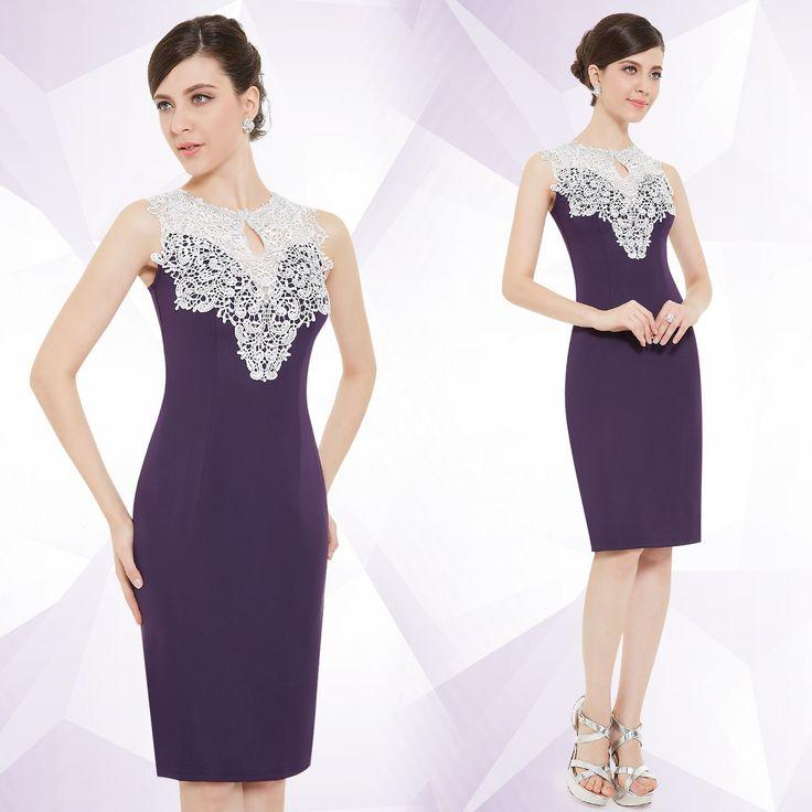 Spitzen Kleid Lila