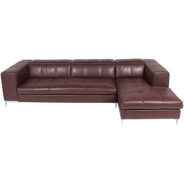 Pre Owned Furniture Nicoline Metro Leather Sectional Sofa ($2,765) ❤ Liked  On Polyvore