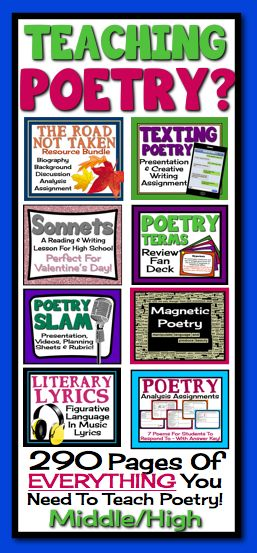 poetry writing activity middle school