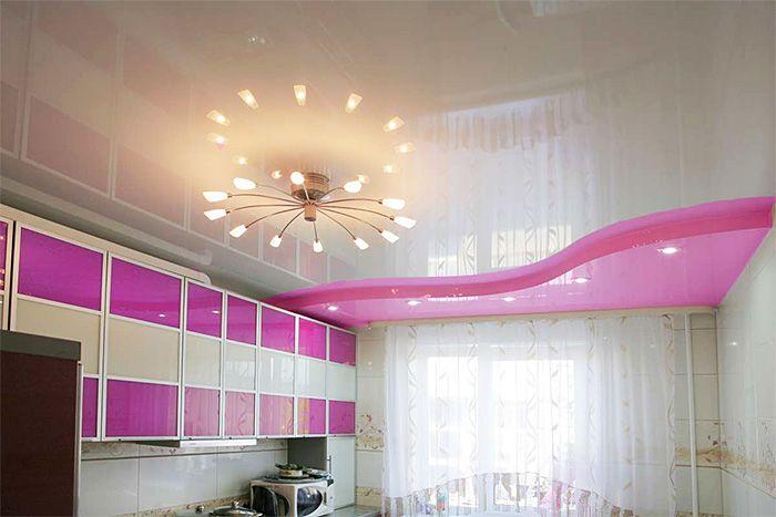 Как выбирать натяжной потолок для комнаты, согласно ее размерам?