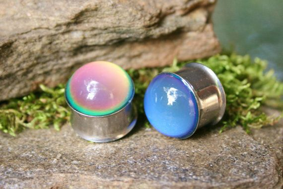 Mood Plugs for gauged ears color change heat by PluggingAlong