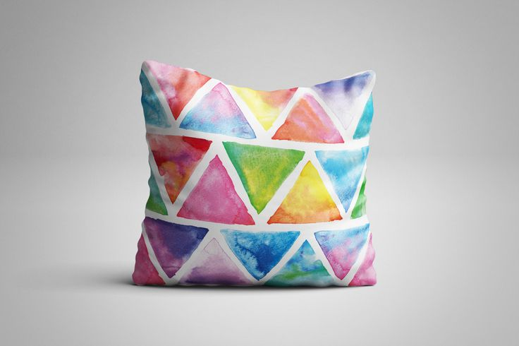 Triangle Cushion. 12 x 12 inch Cushion by NJsBoutiqueCo on Etsy