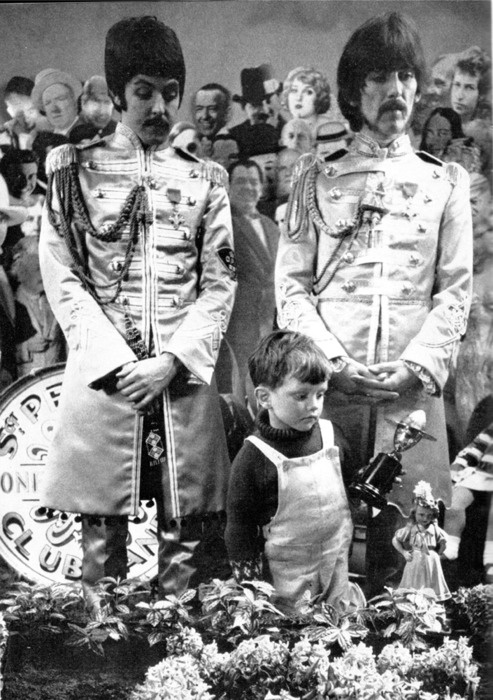 Sgt. Peppers photo shoot. #Beatles