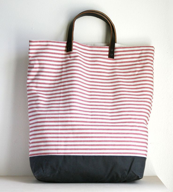 Cotton & Canvas Striped Tote by Jenneng on Scoutmob Shoppe. Bring along all the essentials in this handcrafted striped cotton tote.