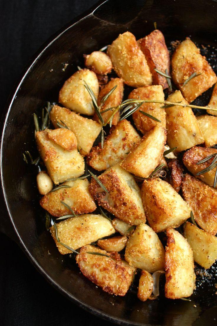 polenta-crusted roast potatoes