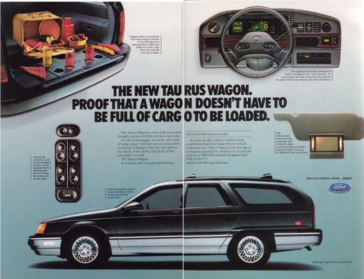 Ford Taurus wagon, 1986 http://www.performancefordlincoln.com/