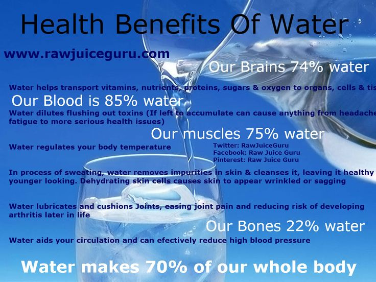The Largest Component Of The Body Is  Water