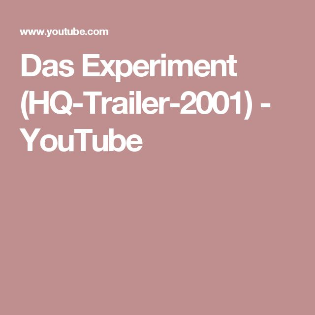 Das Experiment (HQ-Trailer-2001) - YouTube