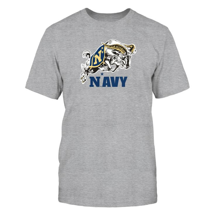 """Navy Football Mascot Clothing T-Shirt, _Officially licensed Navy Football Mascot Clothing _ The US Navy football team is highlighted during the 3rd season of the popular Showtime show """"A Season with Navy Football""""  The popular show that follows a NCAA football team through their season.  Follow the hashtag #ASeasonWith on Twitter and... The Navy Midshipmen Collection, OFFICIAL MERCHANDISE  Available Products:          Gildan Unisex T-Shirt - $25.95 Gildan Long-Sleeve T-Shirt - $33.95…"""