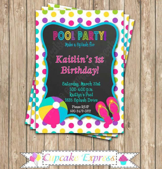 54 best printable birthday invitations- cupcake express images on, Birthday invitations