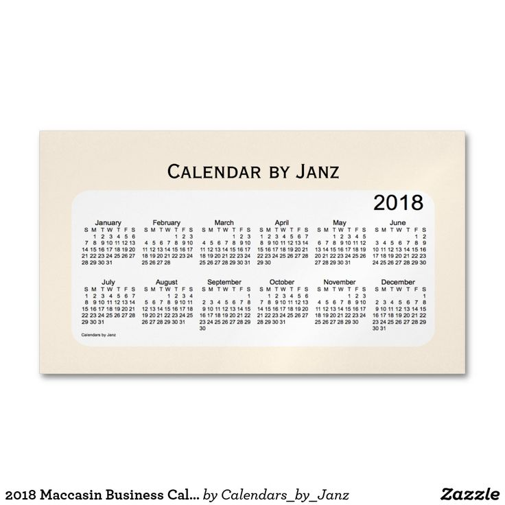 2018 Maccasin Business Calendar by Janz Magnet