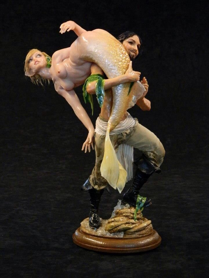 CATCH OF THE DAY ooak Polymer Clay Sculpture by Mark A ...