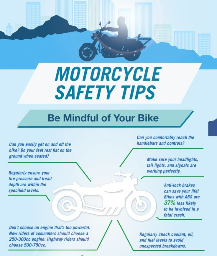 Motorcycle safety tips infographic motorcycle safety