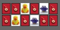 Juegos de memoria para niños pequeños, online y gratis: Memotest infantil con muñecos de peluche