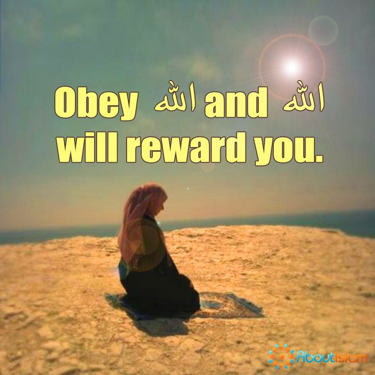 Obey Allah and Allah will reward you.