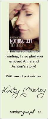 """Authorgraph from Kirsty Moseley for """"Nothing Left to Lose"""""""
