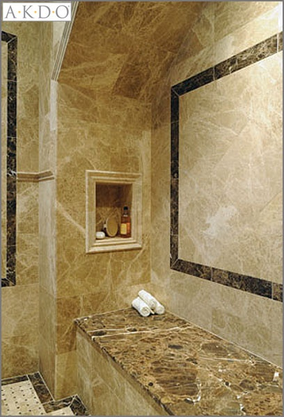 like tile floor and wall trim