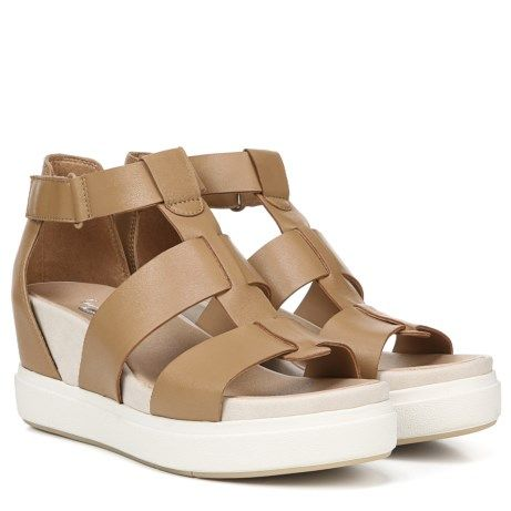 b870f05ab72 Dr. Scholl s Orig Collection Saffron Wedge Sandal Nude Leather