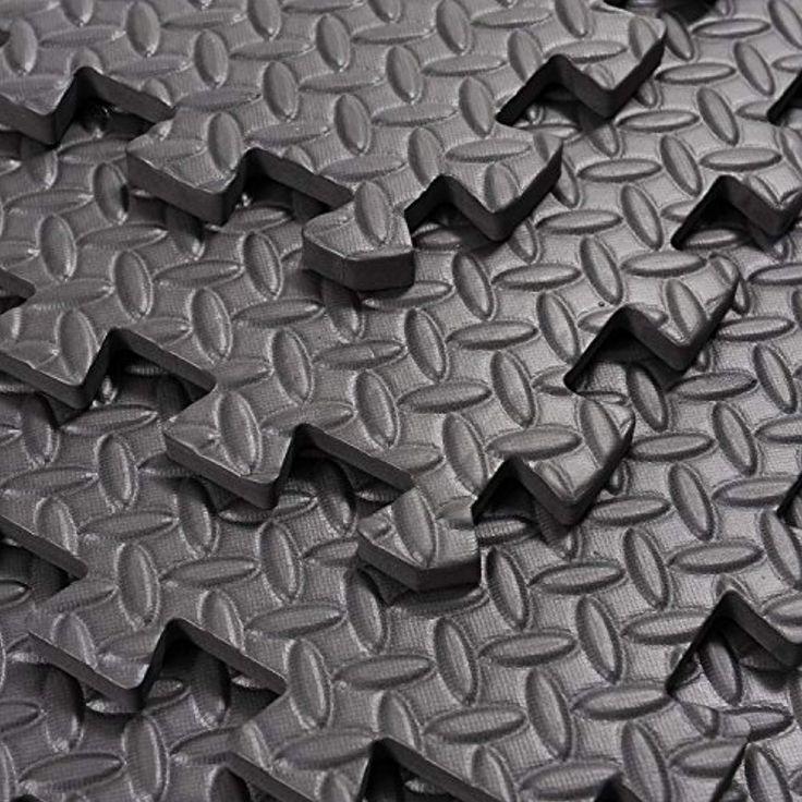 "Soozier Exercise Interlocking Protective Flooring 24"" x"