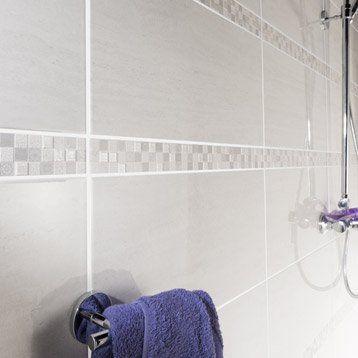 Faience Mur Blanc Verone L 25 X L 50 Cm Marbre Blanc Verone Faience